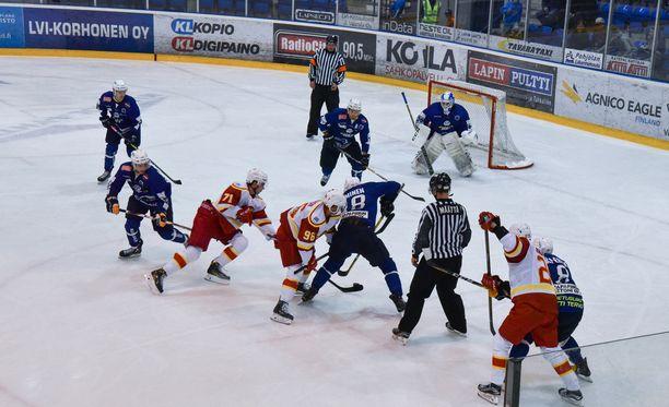 Mestiksen RoKi ja KHL:n Jokerit ottivat yhteen Lappi-areenassa. Jokerit voitti 4-0.