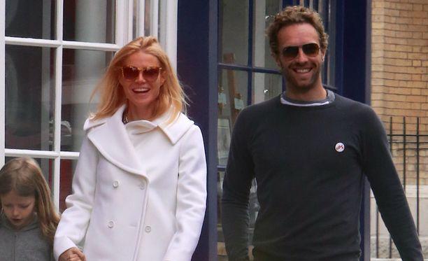 Gwyneth Paltrow ja Chris Martin näyttäytyivät harvoin yhdessä. Kuva vuodelta 2013.