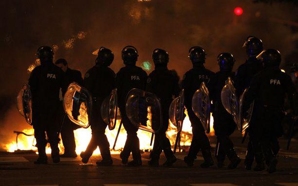 Todellinen kaaos koettiin Buenos Airesin kaduilla.