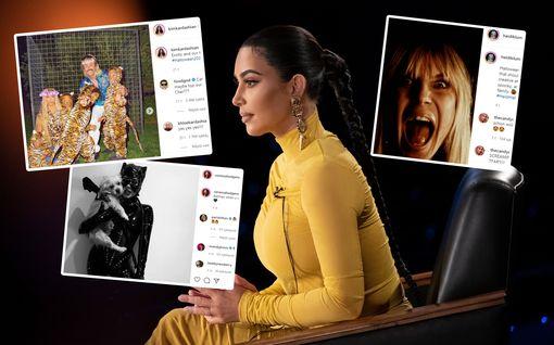 Hollywood-julkkisten upeat halloween-asut - Kim Kardashianilta todellinen yllätysveto