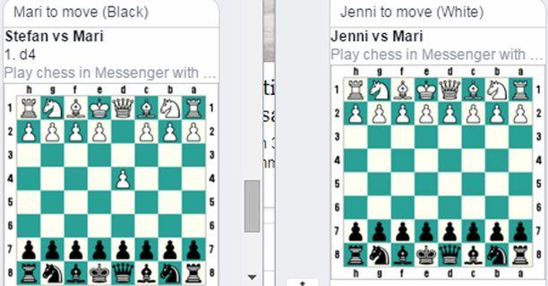 Tältä näyttää Facebook-shakki.
