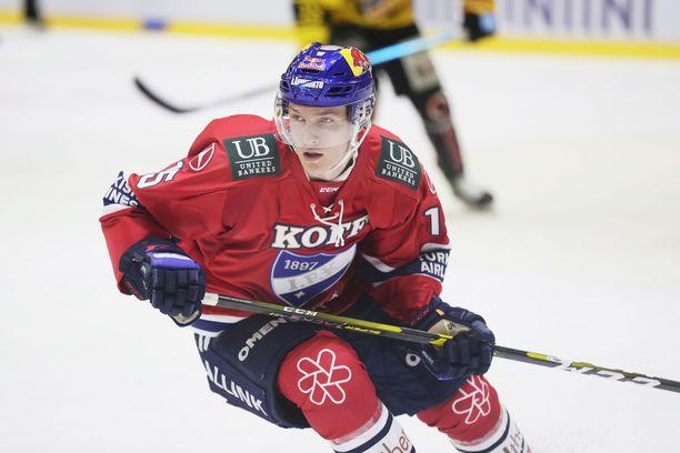 HIFK:n Anton Lundell on todennäköinen ykköskierroksen varaus.