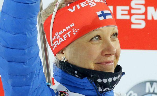 Kaisa Mäkäräinen otti selvän voiton Venäjällä.