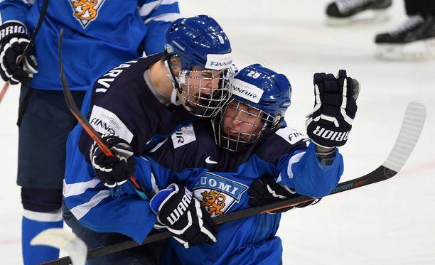 Häkkipäät Jesse Puljujärvi ja Patrik Laine ovat pelanneet ylivoimaisen turnauksen.