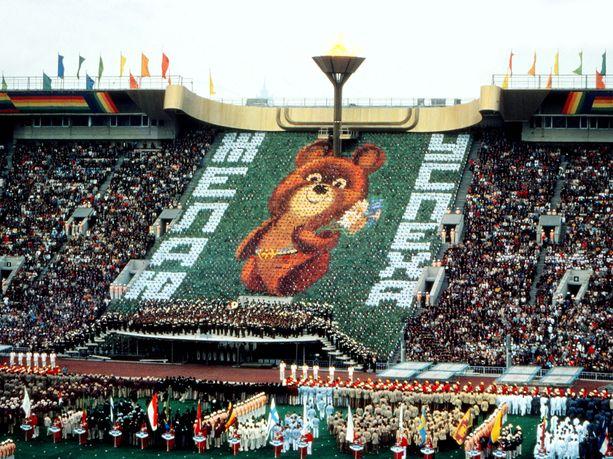 Miska-karhu oli näkyvästi esillä Moskovan olympialaisten avajaisissa lähes tarkalleen 40 vuotta sitten.