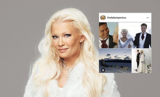 Linda Lampenius on ollut naimisissa 11 vuotta.
