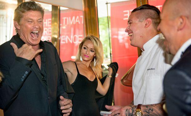 David tapasi myös tv-kokki Tomi Björckin.