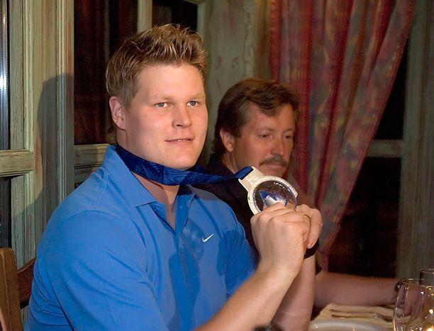 O-P ja hopeahymy mitalijuhlissa Görteborgissa elokuussa 2006.