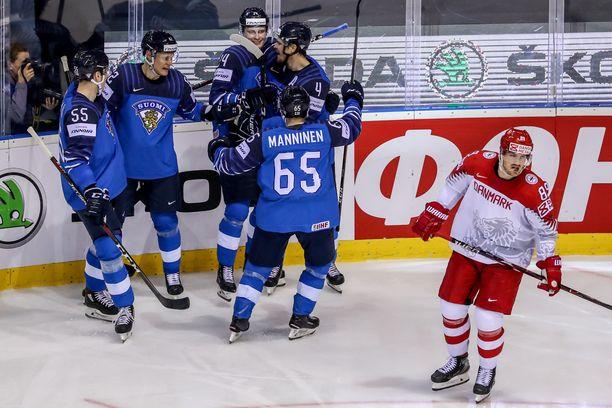 Suomi nousi voittoon Tanskaa vastaan.