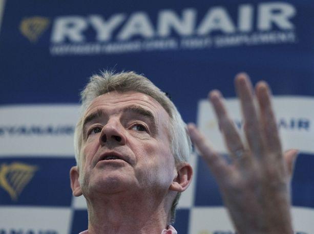 Ryanairin toimitusjohtaja Michael O'Leary.