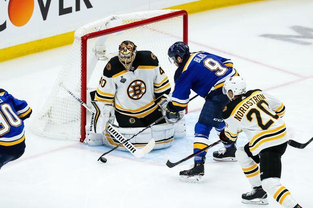 Bostonin maalivahti Tuukka Rask on ollut loistovireessä NHL:n pudotuspeleissä.