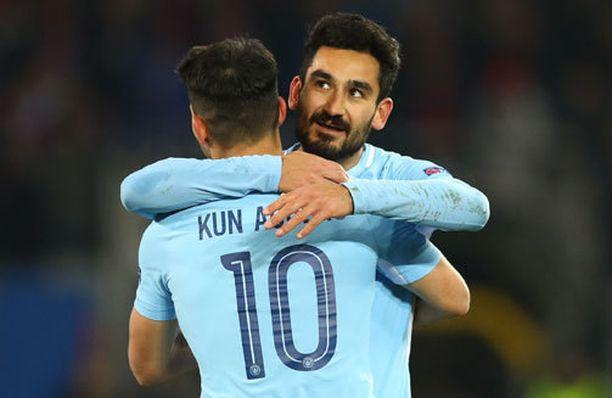 Ilkay Gündogan ja Sergio Agüero tekivät selvää Baselista.