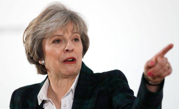 Theresa May puhui Lontoossa tänään.