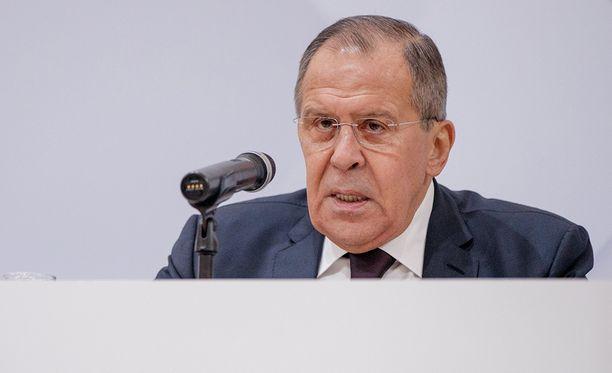 Venäjän ulkoministeri Sergei Lavrov pitää parhaillaan vuotuista lehdistötilaisuutta, jossa linjaa Venäjän politiikkaa.