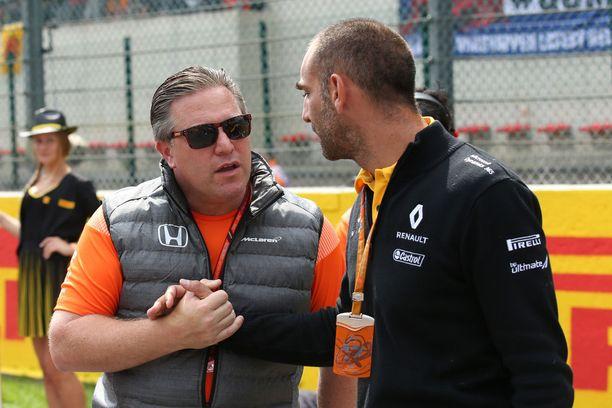 McLarenin Zak Brown ja Renault'n Cyril Abiteboul löivät tiettävästi jo kättä päälle Monzassa.
