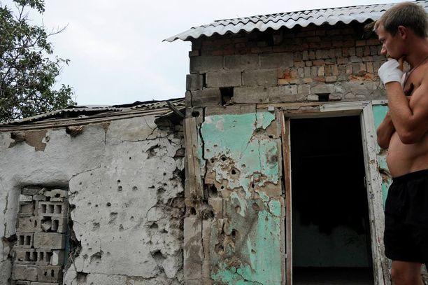 77-vuotiaan Konstantinin taloon Hranitnen kylässä on osunut viimeisen puolen vuoden aikana neljästi.