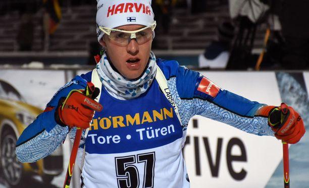 Tero Seppälä nappasi Oberhofin pikakisassa uransa kolmannet maailmancup-pisteet. Arkistokuva.