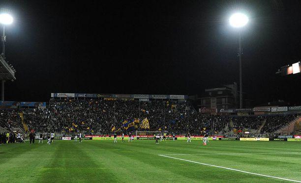 Solomon Nyantakayi harjoitteli ja pelasi Parma-vuosinaan Stadio Ennio Tardinilla.