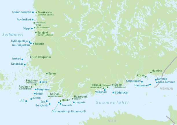 Suomen saaristosta löytyy upeita luontokohteita, joihin on vieläpä kuljetus.