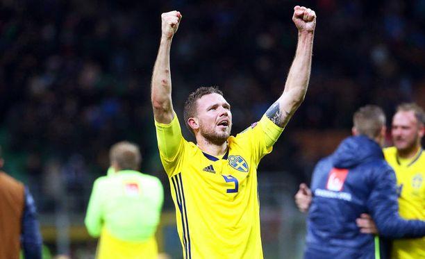 Marcus Berg on Ruotsin avauskokoonpanon hyökkääjä MM-kisoissa.