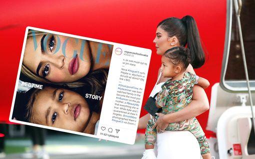 2-vuotias Stormi Jenner pääsi Voguen kanteen - tytöllä on jo kokemusta kansidaamina olemisesta