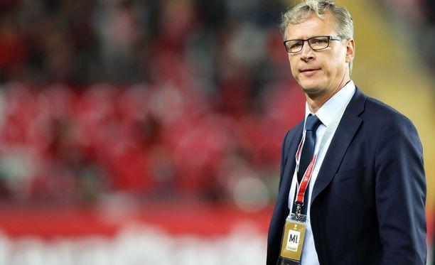 Päävalmentaja Markku Kanervalla ei ollut aihetta tyytyväisyyteen.