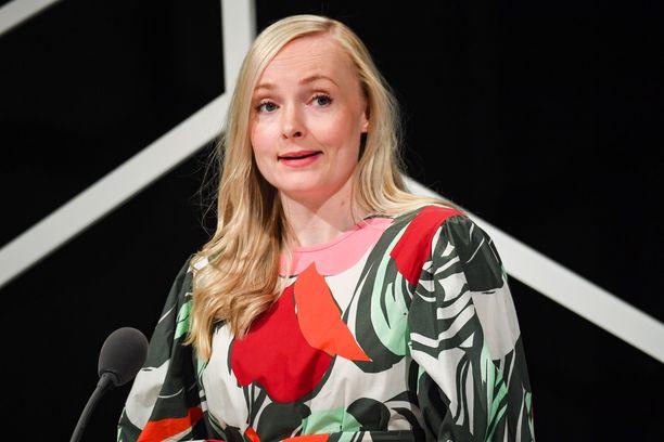 Vihreiden puheenjohtaja Maria Ohisalo.