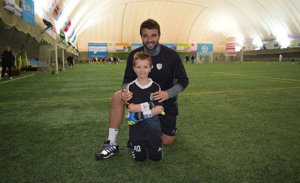 Alexei Eremenko junior ja hänen poikansa Daniil viettävät paljon aikaa Wallsport-areenalla.