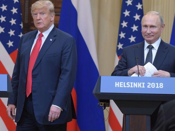 Donald Trump ja Vladimir Putin tapasivat Helsingissä heinäkuussa 2018.