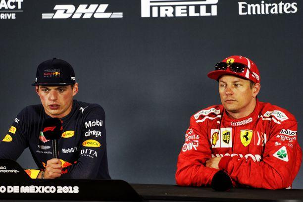 Max Verstappen sai puhua paljon Kimi Räikköstä enemmän.