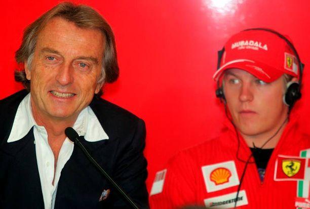Luca di Montezemolon (vas.) ja Kimi Räikkösen suhde on aina ollut värikäs.