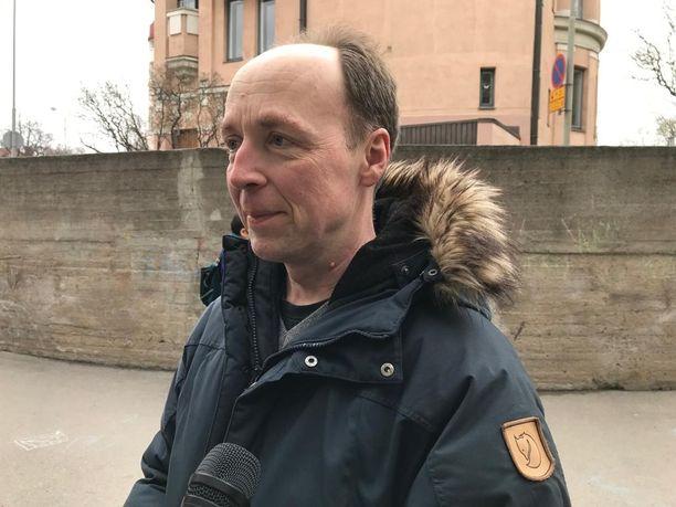 PS:n puheenjohtaja Jussi Halla-aho Iltalehden haastattelussa vaalipäivänä 14. huhtikuuta.