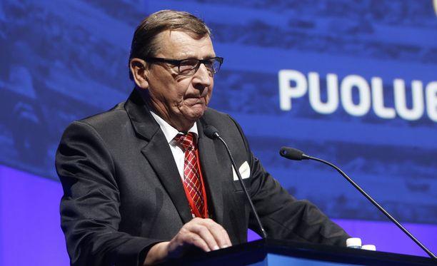 Raimo Vistbacka (sin) perussuomalaisten puoluekokouksessa 2015.