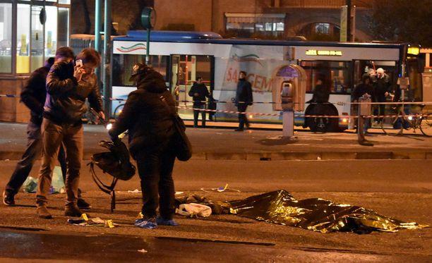Anis Amri kuoli Milanossa aamuyöllä.