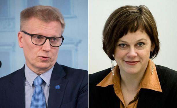 Kimmo Tiilikainen ja Paula Lehtomäki ovat olleet ympäristöministereinä vaikuttamassa haja-asutusalueiden jätevesilakiin.
