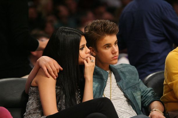 Kuva vuodelta 2012. Justin Bieber on palannut monta kertaa yhteen Selena Gomezin kanssa.