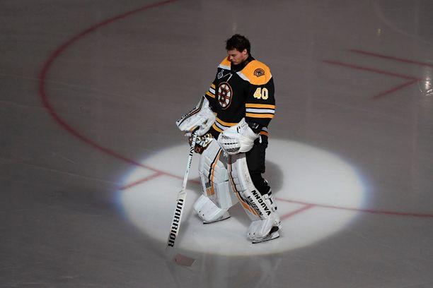 Tuukka Rask on palkittu kertaalleen NHL:n parhaalle maalivahdille myönnettävällä Vezina-pystillä.