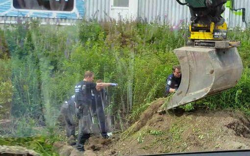 Poliisi tutkii Jyväskylän tapausta - täältä luut löytyivät
