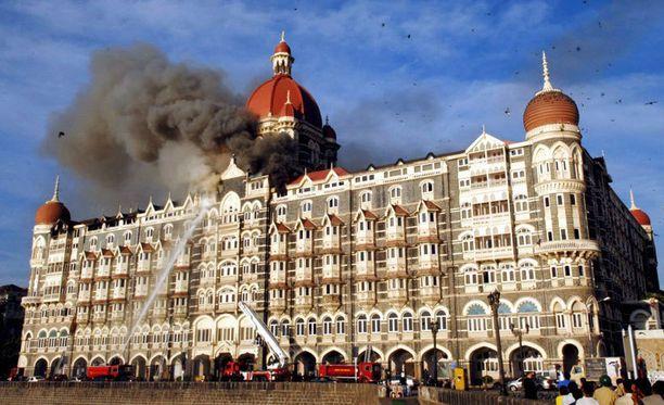 Terroristit iskivät Taj hotelliin 27. marraskuuta 2008.