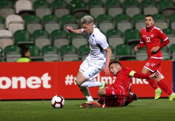 Onni Valakari on alle 21-vuotiaiden maajoukkueen paras pelaaja.