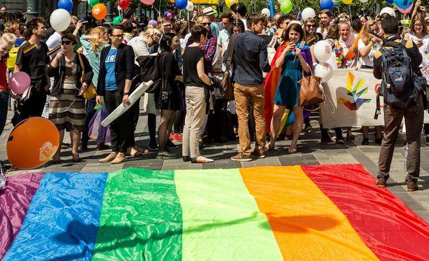 Arkistokuva vuodelta 2016, jolloin Baltian Pridea juhlittiin Liettuassa, Vilnassa.