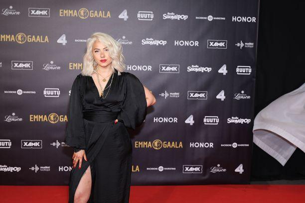 Evelina Emma-gaalassa 2.2.2019.