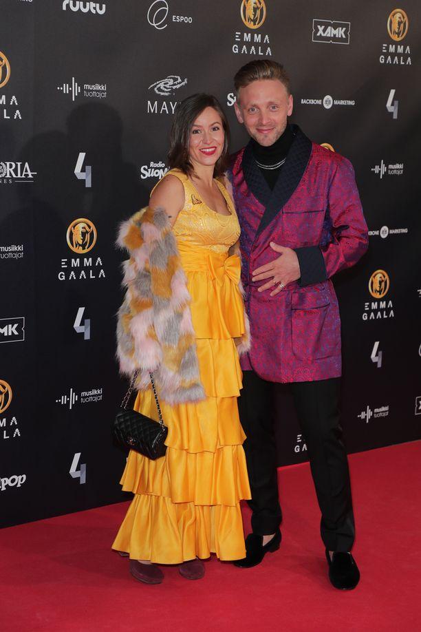 Maria ja Reino Nordin olivat värikkäitä pukeutujia.