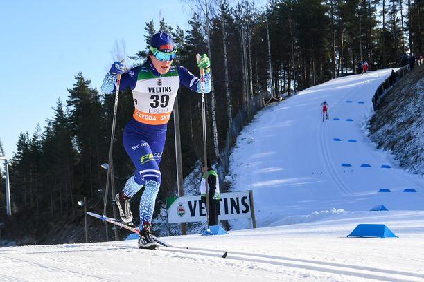 Krista Pärmäkoski nautti lauantaina Lahden perinteisen kympistä.