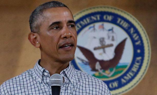 Barack Obama puhui joulupäivänä Hawaiilla Yhdysvaltain merijalkaväelle.