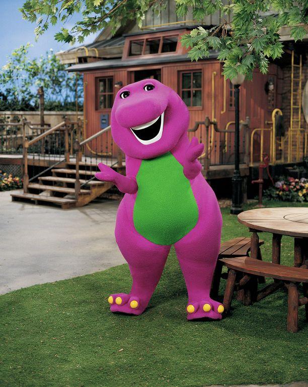 Barney-dinosaurus oli erittäin energinen ja iloinen hahmo.