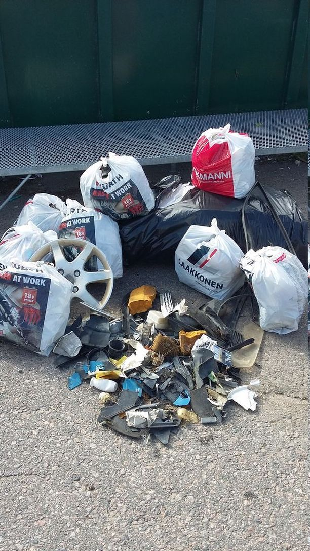 Erkkilät keräsivät yhteensä 7 jätesäkillistä roskia.