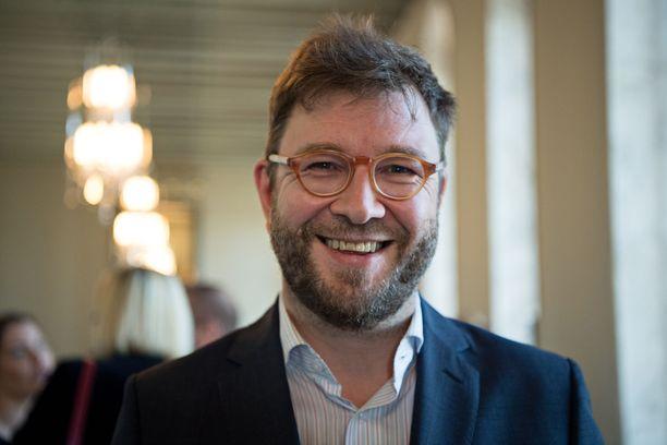 Työministeri Timo Harakka (sd). Arkistokuva vuoden 2017 syyskuulta.