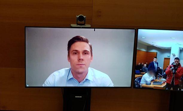 Jori Lehterää kuultiin oikeudessa videoyhteyden välityksellä.