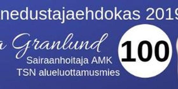 Ensimmäiseksi Vesa Knuutilan auto nappasi ehdokas numero 100:n tien varresta ja räväytti ruutuun 100 km/h rajoituksen.